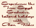 Holidays to Egypt with Alan Fildes