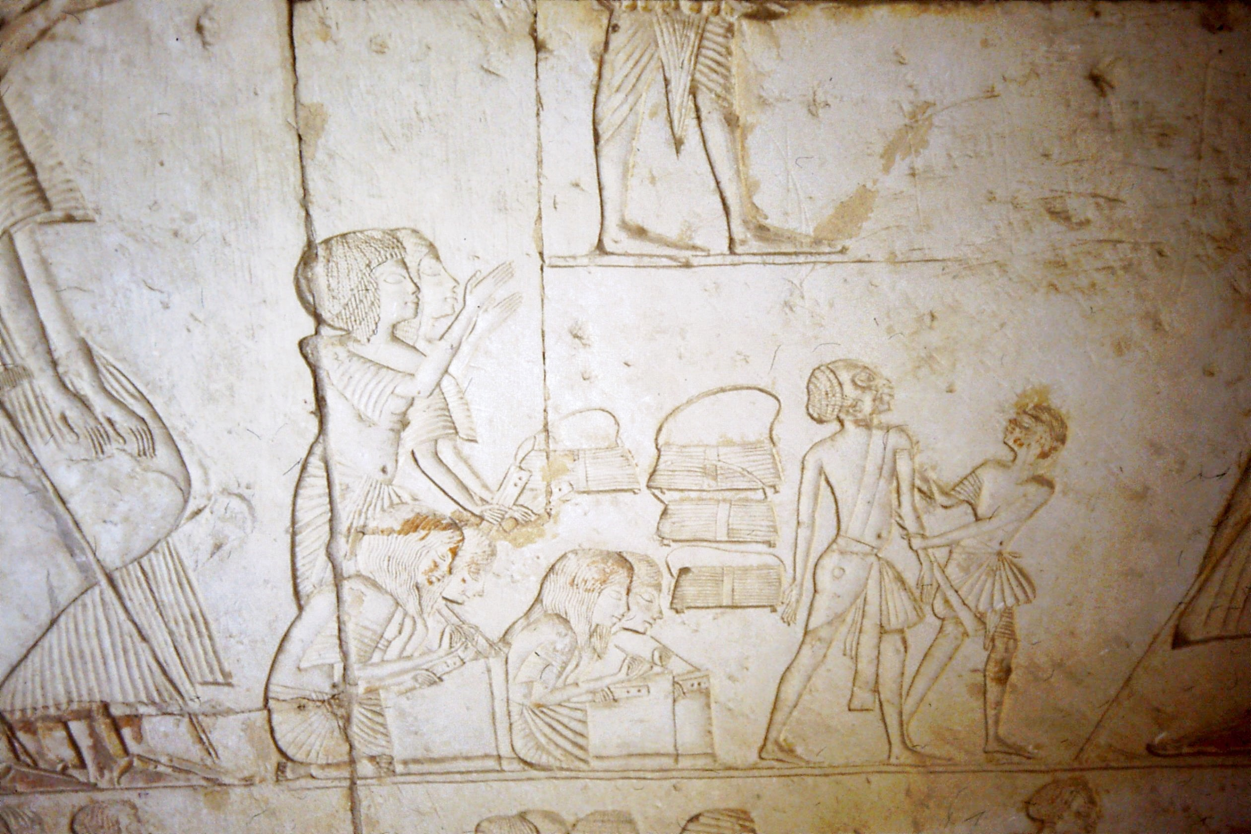 Scribes in the tomb of Horemheb at Saqqara.