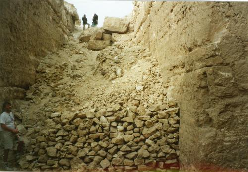 The burial chamber of Djedefre at Abu Rowash.