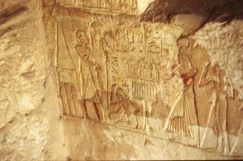The New Kingdom Tomb of Khay at Saqqara.